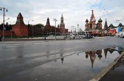 Торжество праздника Первого Мая в Москве Стоковое Изображение RF