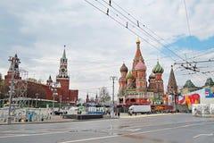 Торжество праздника Первого Мая в Москве Стоковые Изображения RF