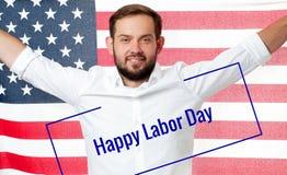 Торжество работника на День Трудаа американский флаг Стоковая Фотография RF