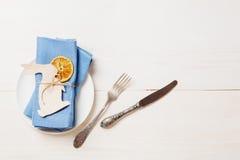 Торжество сервировки стола пасхи Стоковая Фотография