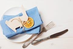 Торжество сервировки стола пасхи Стоковые Фото