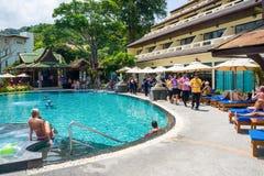 Торжество традиционного тайского Нового Года Стоковая Фотография RF