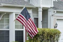 торжество четвертое -го июль играет главные роли тема нашивок флаг США Стоковое Изображение