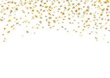 Торжество confetti звезды золота изолированное на белой предпосылке Украшение картины падающих звезд золотое абстрактное glitter иллюстрация вектора
