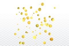 Торжество confetti золота иллюстрация вектора