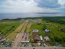 Торжество Sabantui близко города Казани вид с воздуха Стоковая Фотография