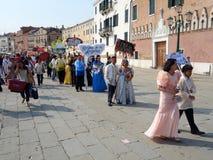 Торжество Santacruzen, Венеция, венето, Италия Стоковая Фотография