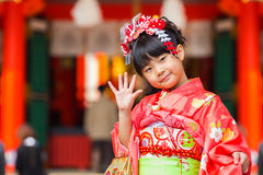 торжество Shichi-идти-Сан на Ikuta Jinja - Кобе Стоковое Изображение