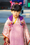 торжество Shichi-идти-Сан на Korakuen в Okayama Стоковое Фото