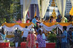 Торжество Songkhran на парке Lumpini Стоковые Фотографии RF