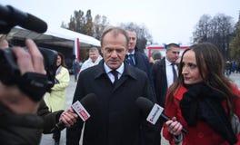 Торжество 100th годовщины возвращать независимость Польшей стоковое изображение rf