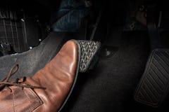 Тормозная педаль автомобиля стоковое фото rf