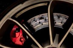 Тормозная система автомобиля спорт Стоковые Изображения