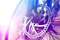 Тормозная шайба в современном велосипеде Стоковая Фотография