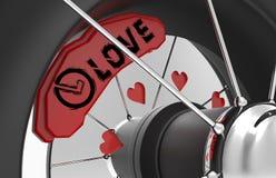 Тормозные шайбы автомобиля с сердцами Стоковые Фото