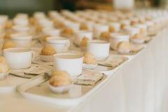 Тормоз кофе, строка подготавливает комплект кофе в событии семинара Стоковое Изображение