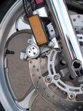 Тормоз колеса мотоцикла Стоковые Фотографии RF