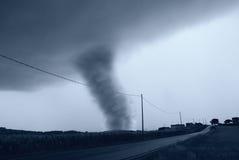 Торнадо около улицы Стоковые Изображения RF