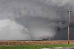 Торнадо массивнейшего клина форменный Стоковые Изображения RF