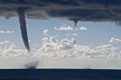 Торнадо над Средиземным морем Стоковые Изображения RF