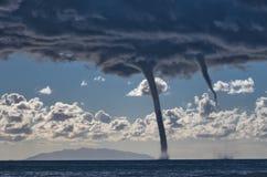 Торнадо над Средиземным морем Стоковые Фотографии RF