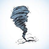 торнадо предпосылка рисуя флористический вектор травы