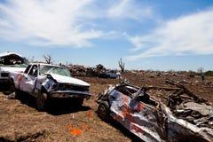 Торнадо EF5 в Moore - Оклахоме стоковое изображение