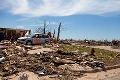 Торнадо EF5 в Moore - Оклахоме стоковая фотография rf