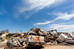 Торнадо EF5 в Moore - Оклахоме стоковое фото
