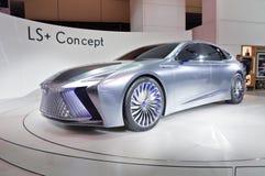 Торонто, Канада - 2018-02-19: Концепция Lexus LS показанная на экспозиции бренда Lexus на канадском International 2018 Стоковые Фотографии RF