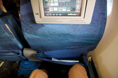 ТОРОНТО, КАНАДА - 28-ое января 2017: Места предпринимательского класса Air Canada внутри Embraer ERJ-190 от AC Воздух Canadas Emb Стоковое фото RF