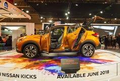 Торонто, Канада - 2018-02-19: Nissan пинает концепцию показанную на Nissan Motor Co экспозиция на 2018 канадское международное Au Стоковые Изображения RF