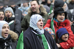 Ралли для того чтобы маркировать 2 лет сирийського витка в Торонто Стоковая Фотография RF
