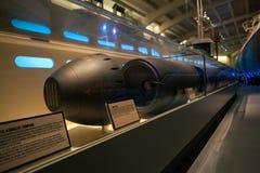 Торпедо U-505 на музее науки и индустрии стоковые фото