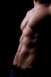 торс атлетического человека сильный стоковое изображение