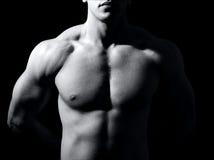 торс темного человека мышечный один Стоковая Фотография RF