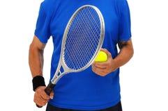 торс тенниса игрока Стоковая Фотография RF