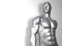 торс человека серебряный иллюстрация вектора