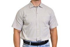 Торс человека одел в штатских одеждах, под рубашкой Стоковые Фото