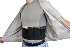 Торс человека одел в штатских одеждах, под рубашкой Стоковое Изображение RF