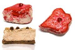 Торты вишни и шоколада Стоковая Фотография RF
