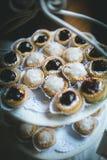 Торты закуски мини коктеиля стоковое изображение