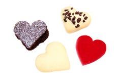 Торты и печенья в форме сердца Стоковое Фото