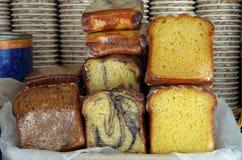 Торты кофе тележки еды Стоковая Фотография