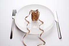 Торты на тарелке стоковые фотографии rf