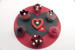 торты придают форму чашки романтичное Стоковые Фотографии RF