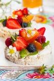 Торты риса с ягодами Стоковое Фото