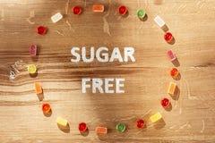 Торты сахара свободные еда диетпитания Взгляд сверху принципиальная схема здоровая стоковые изображения rf