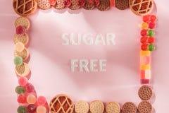 Торты сахара свободные еда диетпитания Взгляд сверху принципиальная схема здоровая стоковое фото rf