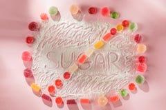 Торты сахара свободные еда диетпитания Взгляд сверху принципиальная схема здоровая стоковая фотография rf